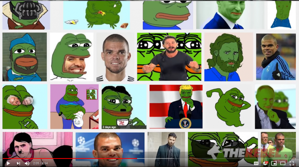 A collage of pepe memes, taken from the Rebel